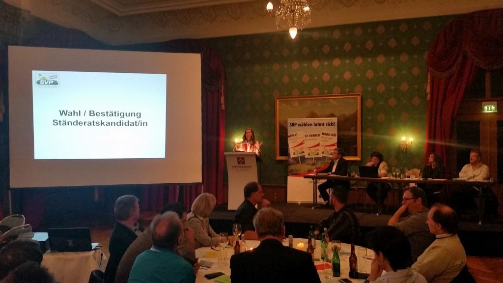 Nomination Yvette Estermann 2. Wahlgang Ständerat