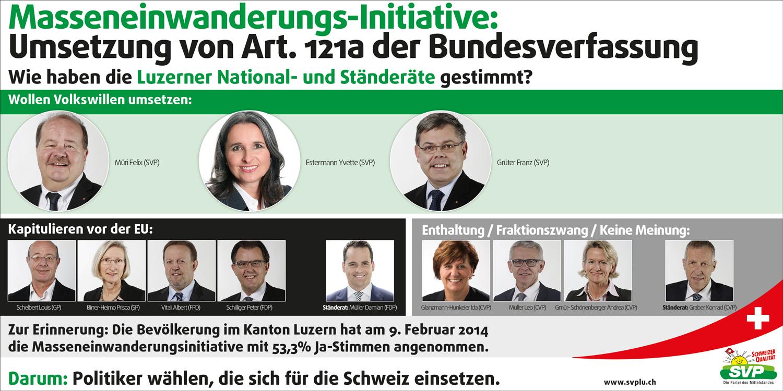 MEI - Wie haben die Luzerner National- und Ständeräte gestimmt?