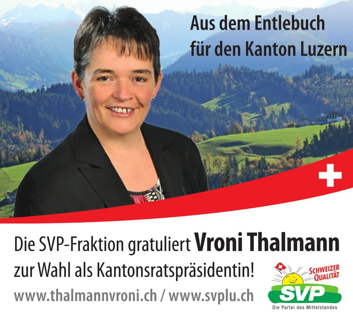 Kantonsratspräsidentin Vroni Thalmann