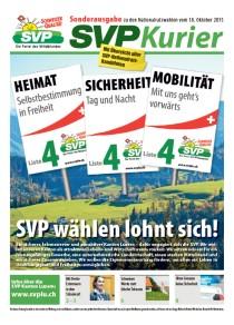 Wahlzeitung Nationalratswahlen 2015