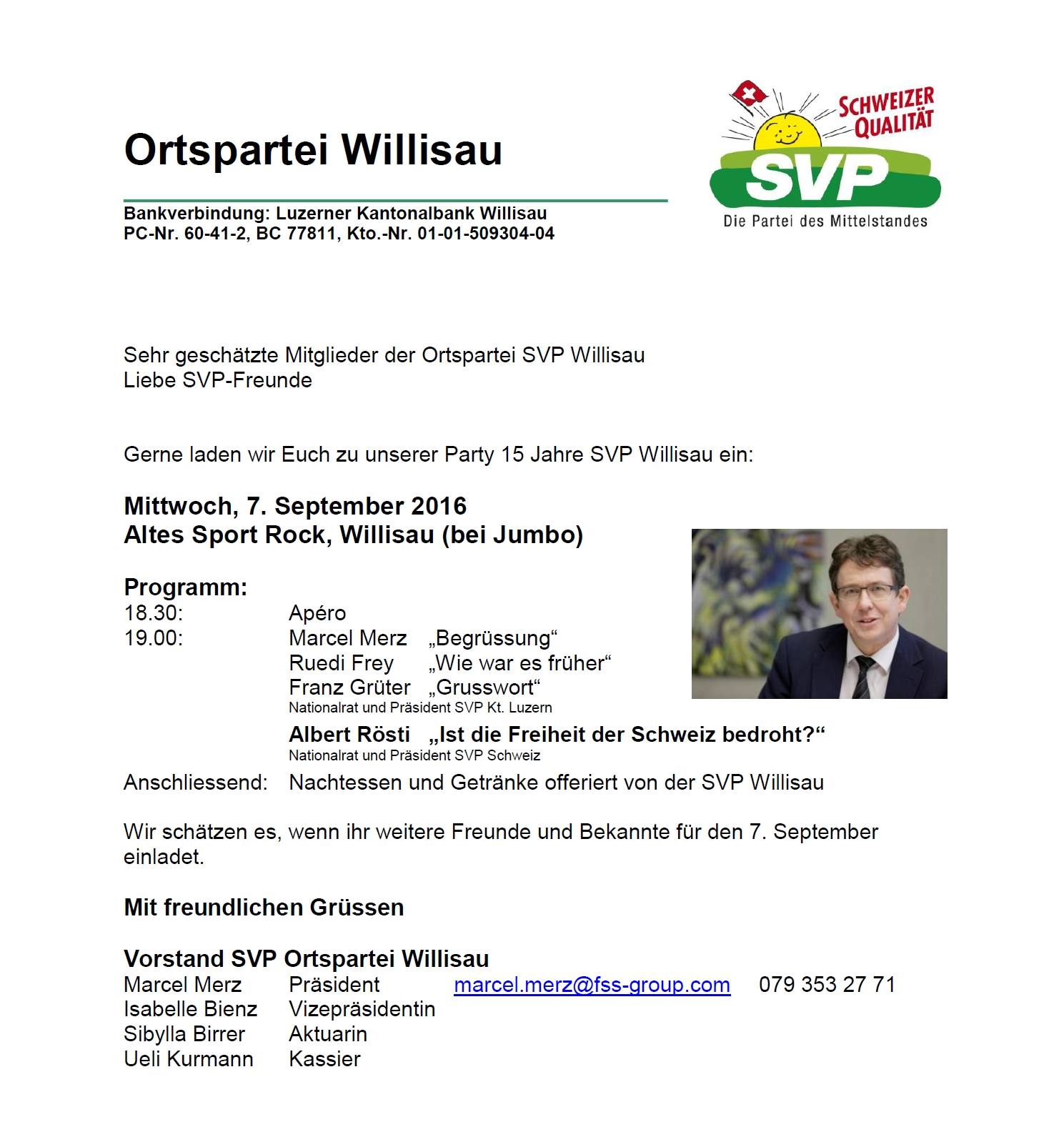 Jubiläumsfeier OP Willisau