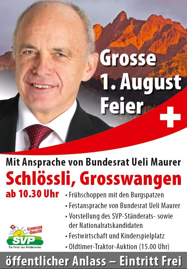 Plakat 1. August Anlass