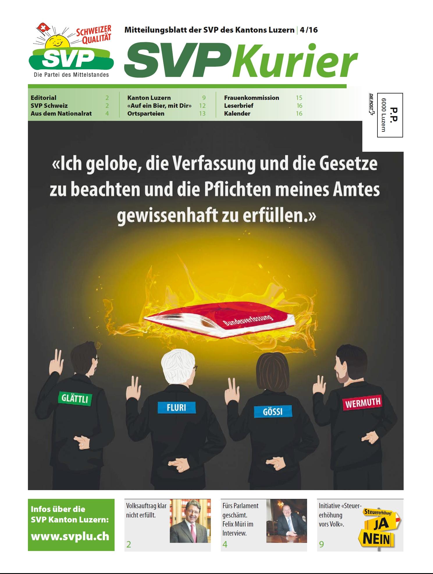 Deckblatt Kurier 4 16