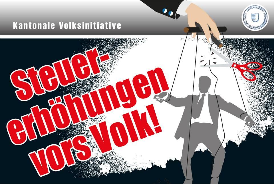"""Jetzt unterschreiben: Kantonale Volksinitiative """"Steuererhöhungen vors Volk"""""""