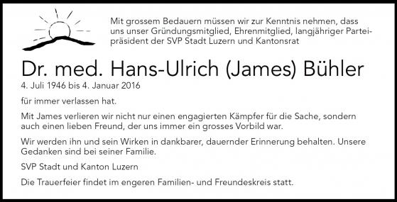 Todesanzeige James Bühler kopie